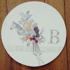 """"""" Bello y bonito se escriben con la misma B """" pieza única. Ilustrada a mano #Himallineishon #b #beautiful #art #illustration"""