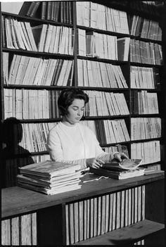 319461PD: Pam Plummer filing serials at the State Library of Western Australia, 1966  https://encore.slwa.wa.gov.au/iii/encore/record/C__Rb3430633