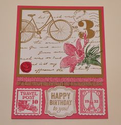 Diana Buckingham Postage Due Stampin Up Convention swap card