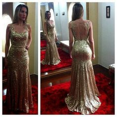 Elegant Prom Dresses, Open Back Sexy Gold Sequined Evening Gowns Sleeveless Applique Mermaid Party Dresses Shop for La Femme prom dresses. Elegant long designer gowns, sexy cocktail dresses, short semi-formal dresses, and party dresses. Strapless Prom Dresses, Open Back Prom Dresses, Gold Prom Dresses, Long Prom Gowns, Mermaid Evening Dresses, Prom Party Dresses, Party Gowns, Modest Dresses, Evening Gowns