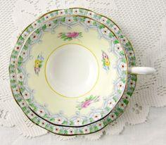 "Royal Albert ""Torquay"" Tea Cup and Saucer, Crown China, Vintage Tea Cup, English Bone China"
