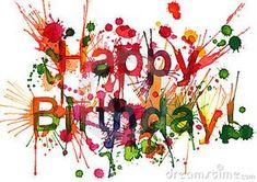 Illustration about Happy Birthday title (Ekv painting). Happy Birthday Artist, Happy Birthday 1, Happy Birthday Pictures, Happy Birthday Quotes, Happy Birthday Greetings, Birthday Messages, Birthday Cake, Birthday Card Template, Birthday Clipart