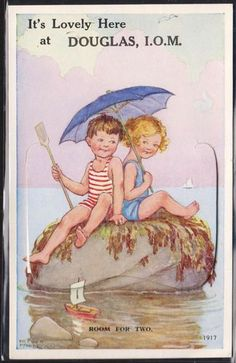 Hester Margetson postcard - children at the beach Vintage Children's Books, Vintage Cards, Vintage Postcards, Retro Kids, Vintage Pictures, Vintage Images, Children's Book Illustration, Beach Art, Vintage Prints
