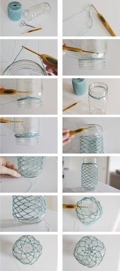 How to Crochet: Mason Jar Cozy (I'm such an octogenarian!) How to Crochet: Mason Jar Cozy (I'm such an octogenarian!