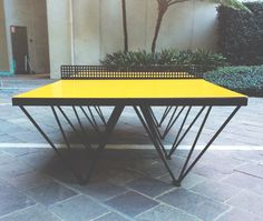 An Outdoor Ping Pong Table for Design Lovers - Design Milk