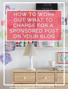 How much to charge for sponsored posts