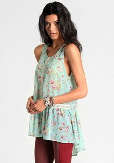 Beatrice High-Low Floral Blouse