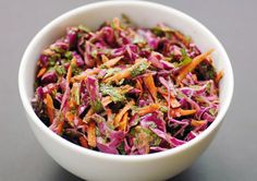 Spicy Slaw (with cilantro and jalapeño pepper) - Elana's Pantry Jalapeno Coleslaw, Spicy Coleslaw, Vegan Coleslaw, Coleslaw Recipes, Healthy Salad Recipes, Paleo Recipes, Real Food Recipes, Cooking Recipes, Yummy Food