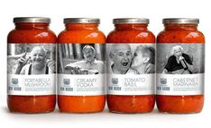 via roma Pasta Sauce - packaging Cool Packaging, Food Packaging Design, Packaging Design Inspiration, Brand Packaging, Glass Packaging, Product Packaging, Vodka, Label Design, Package Design