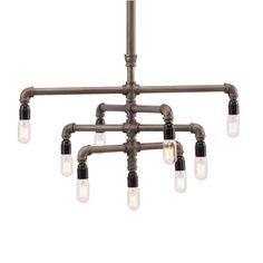 ENTRY LIGHT- DOT&BO- Industrial Pipe Chandelier