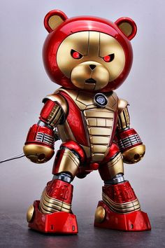 GUNDAM GUY: 1/144 BearGGuy Iron Man Custom - Custom Build w/ LED
