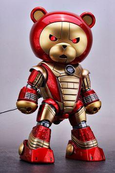 GUNDAM GUY: 1/144 BearGGuy Iron Man Custom - Custom Build w/ LED