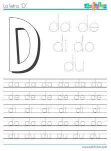 sílabas con d