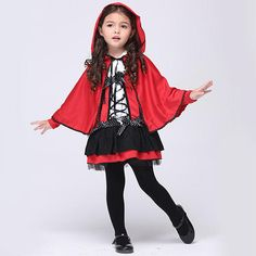 Cute Little Girls Little Red Devil Cosplay Costume Halloween Little Red Riding Hood Costume L Cosplay, Cosplay Dress, Costume Dress, Cosplay Costumes, Witch Cosplay, Red Costume, Demon Costume, Pirate Cosplay, Anime Cosplay