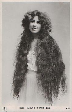 Long Edwardian hair