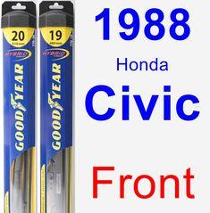 Front Wiper Blade Pack for 1988 Honda Civic - Hybrid