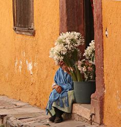 San Miguel de Allende florista by almedcha, via Flickr flowers old woman viejita