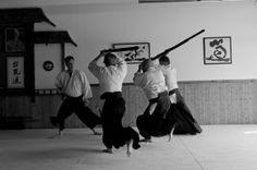 aikido aikidoka keikogi obi hakama wooden weapon bokken jo aikido pinterest. Black Bedroom Furniture Sets. Home Design Ideas