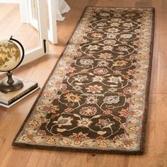Safavieh Handmade Heritage Abbey Traditional Oriental Wool Rug (Charcoal/Blue x Gray Oriental Pattern, Oriental Rug, Traditional Area Rugs, Rug Shapes, Outdoor Area Rugs, Beige Area Rugs, Runes, Colorful Rugs, Construction
