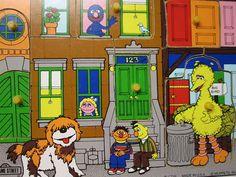 Vintage Sesame Street Puzzle Here's Sesame Street by DoNotDestroy