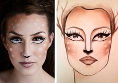 How To: Baby Deer Makeup (Halloween Look)