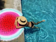Go ahead, let that inflatable swan float away—these seven on-trend items will make your sunny beach trips and healthy park picnics the most photo-ready (and memorable) of summer Summer Of Love, Summer Fun, Summer 2016, Spring 2016, Watermelon Towel, Pool Supplies, Sunny Beach, Beach Accessories, Summer Essentials