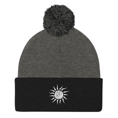 Puff Embroidery Beanie //Puff 3d Embroidery Jeffy SML Gold Beanie
