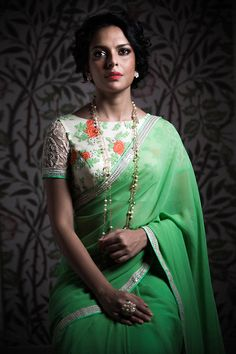 Beautiful #Saree Ensemble by @swatimanish ~ https://www.facebook.com/SwatiManish-427104457446272/timeline/ (Mumbai) @ @behance