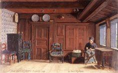 Carl Ludwig Jessen: Rotes Zimmer bei Paul Moritzen, 1869