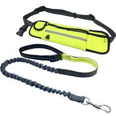 Smart hundebånd med belte for en handsfree tur. Beltet har rom til iphone, nøkler, penger, hundeposer, snacks og det du behøver å ha med deg på tur. Det er tapet søm i hoverommet slik at telefonen holder seg tørr om det regner. Det er åpning til høretelefo