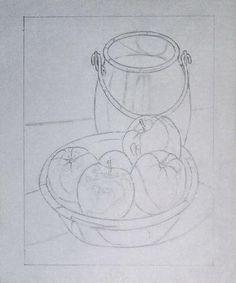 5.- Dibujo paso a paso de bodegón :: Valero                                                                                                                                                                                 Más