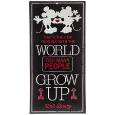 ab398957e112 Too Many People Grow Up Embossed Tin Sign