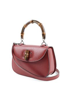 Gucci: totes bags online - Gucci Bamboo leather small tote