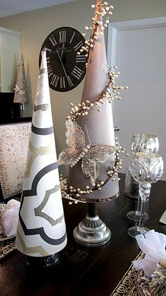 Rhinestone Monogrammed Ornaments and a Blinged out Holiday Table…   The Creativity Exchange