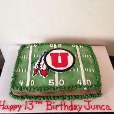 Utah Utes football birthday cake