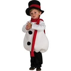 Baby Snowman Toddler Costume Would be cute for a Christmas card
