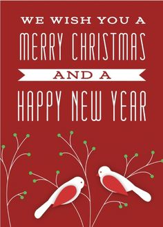 We wish you a Merry Christmas and a Happy New Year. Send this card today! Send a card for $1.98 when sharing from Sendcere.com.