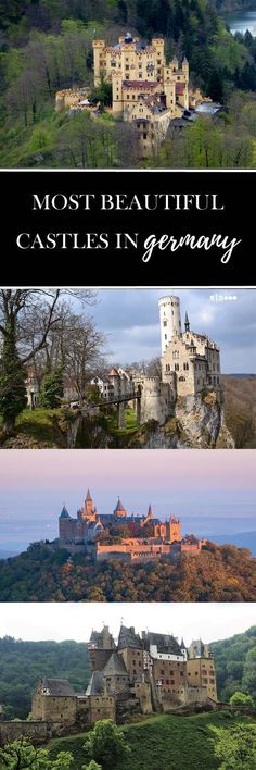 Most beautiful castles in Germany. Travel in Europe.