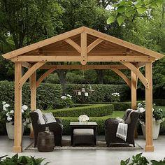 Pergola For Car Parking Code: 9985852631 Pergola Carport, Garden Gazebo, Pergola Swing, Deck With Pergola, Wooden Pergola, Backyard Pergola, Pergola Shade, Pergola Plans, Garden Beds