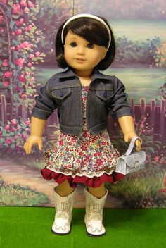Girl Next Door- Sundress & Jacket for American Girl. $65.00, via Etsy.