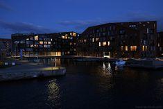 Architecture nouveaux bâtiments dans le quartier Christiana à Copenhague, Danemark - Christianshavn Copenhagen