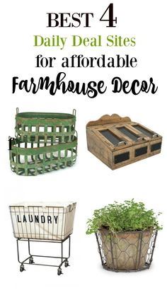 The Best 4 Daily Deal Sites for Affordable Farmhouse Decor. How to get the 'Fixer Upper' farmhouse look for less.