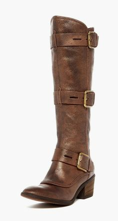Dax Buckle Strap Boot. Love the detail and heel height. Perfect.