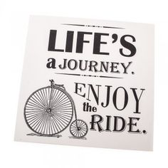 Life's a Journey Enjoy the Ride Bicycle Sign - from Mollie & Fred UK