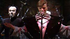 """Musical guest David Bowie performs """"The Man Who Sold The World"""" on Saturday Night Live."""