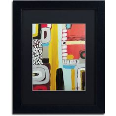 Trademark Fine Art Chemins Canvas Art by Sylvie Demers, Black Matte, Black Frame, Size: 16 x 20