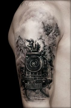 Traditional train tattoo google zoeken tattoos for Crazy train tattoos