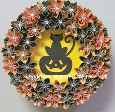 Halloween Wreath by CinnamonMooseCrafts on Etsy