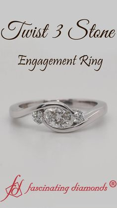 Take her breath away with this nature inspired diamond engagement ring set from Camellia Jewelry. An impressive half carat natural diamond completes the ring with Baguette Diamond Rings, Unique Diamond Rings, Simple Jewelry, Jewelry Rings, Women's Rings, Jewlery, 3 Stone Engagement Rings, Bridal Ring Sets, Three Stone Rings