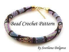 Pattern for bead crochet necklace Amira